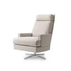 General Base Swivel Armchair | Lounge chairs | Bench