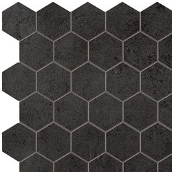 Terra Antracite Esagono Mosaico | Mosaicos | Fap Ceramiche