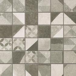 Terra Deco Grey Macromosaico | Ceramic mosaics | Fap Ceramiche