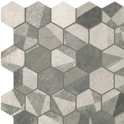 Terra Deco Grey Esagono Mosaico | Ceramic mosaics | Fap Ceramiche