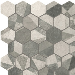 Terra Deco Grey Esagono Mosaico | Mosaici | Fap Ceramiche