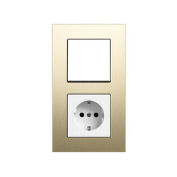 Esprit aluminium bright gold | Switch range | interuttori pulsante | Gira