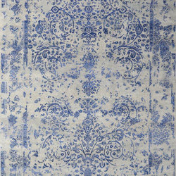 Kashmir Blazed Dark Blue 4739 | Rugs / Designer rugs | THIBAULT VAN RENNE