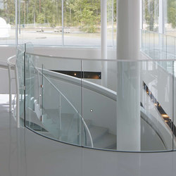 LK60 curved glass railings | Stair railings | Steelpro