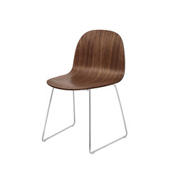 Gubi 2D Chair – Sledge Base | Restaurant chairs | GUBI