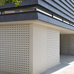 Porous block 100 in-situ | Facade design | Kenzan