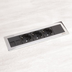 K45 | Ofiblock Line Workstation Power | Schuko sockets | Simon