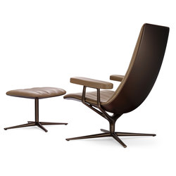 Healey Lounge with footstool | Poltrone | Walter Knoll