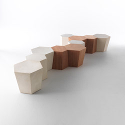 Hexagon stool | Bath stools / benches | CASAMANIA-HORM.IT