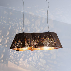 Riddled Plywood Chandelier | Suspended lights | CASAMANIA-HORM.IT