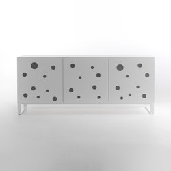 Polka Dots Full White | Credenze | HORM.IT