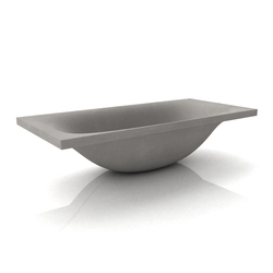 Wave Bathtub | Baignoires ilôts | Dade Design AG concrete works Beton