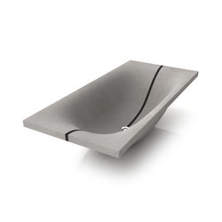 Wave Bathtub Mit Trennfuge | Free-standing baths | Dade Design AG concrete works Beton