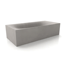 Wave Cubed Bathtub | Free-standing baths | Dade Design AG concrete works Beton