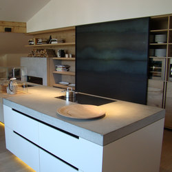Concrete Kitchen | Design Example | Banconi/banchi/piani cucina | Dade Design AG concrete works Beton