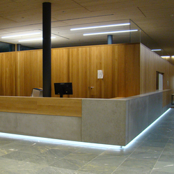 Corporate Concrete | Design Example | Reception desks | Dade Design AG concrete works Beton