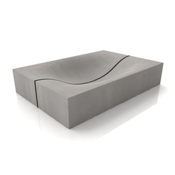 Wave Washbasin Mit Trennfuge | Wash basins | Dade Design AG concrete works Beton