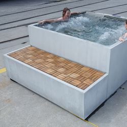 Concrete in Bath| Design Examples | Outdoor whirlpools | Dade Design AG concrete works Beton