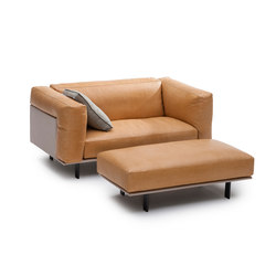 Recess loveseat/footstool | Poltrone lounge | Linteloo
