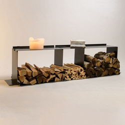 wineTee® wood log holder XL | sideboard | Bibliothèques | lebenszubehoer by stef's