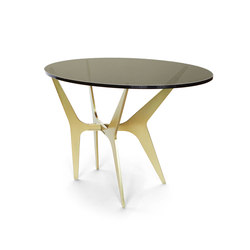 DEAN Oval Side Table - Brass | Side tables | Gabriel Scott