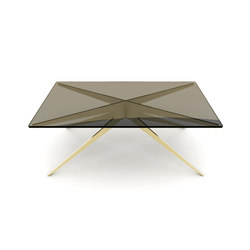 DEAN Rectangular Coffee Table - Brass | Mesas de centro | Gabriel Scott