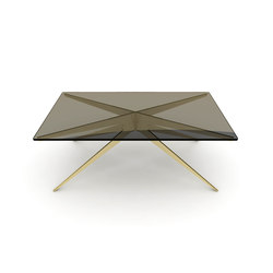 DEAN Rectangular Coffee Table - Brass | Coffee tables | Gabriel Scott