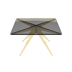 DEAN Rectangular Side Table - Brass | Mesas auxiliares | Gabriel Scott