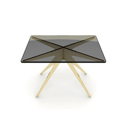 DEAN Rectangular Side Table - Brass | Side tables | Gabriel Scott