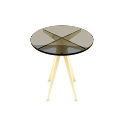 DEAN Round Side Table - Brass | Mesas auxiliares | Gabriel Scott