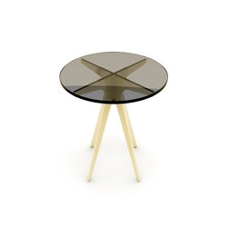 DEAN Round Side Table - Brass | Side tables | Gabriel Scott