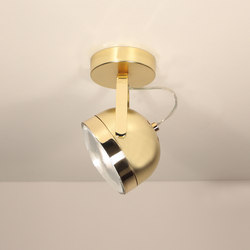 Boogie W1 gold Ceiling lamp | Ceiling-mounted spotlights | Luz Difusión