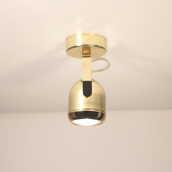 Boogie mini W1 gold Ceiling lamp | Ceiling-mounted spotlights | Luz Difusión