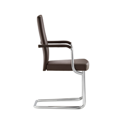 D21P Upholstered cantilever chair | Visitors chairs / Side chairs | TECTA