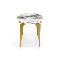 PRONG Side Table - Brass | Side tables | Gabriel Scott