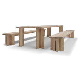 Akiro table/bench | Tables de repas | Linteloo
