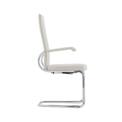 D29P Cinetic cantilever chair upholstered seat | Visitors chairs / Side chairs | TECTA