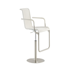 D32 E Bar chair with armrests | Taburetes de bar | TECTA
