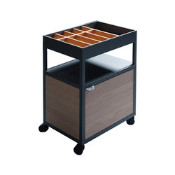 New Order Workspace Trolley with WW-Shape Cork Accessory | Carrelli bar | Hay