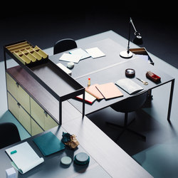 New Order Workspace Multi-Desks Island | Desking systems | Hay