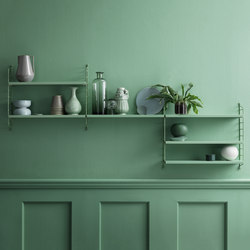 string pocket green | Scaffali | string furniture
