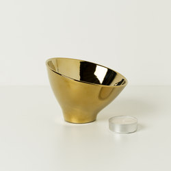 VLAMP GOLD L | Candlesticks / Candleholder | jacob de baan