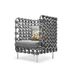 Cabaret Easy Armchair high back | Gartensessel | Kenneth Cobonpue