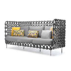 Cabaret Sofa High Back | Divani | Kenneth Cobonpue