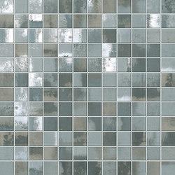 Evoque Acciaio Silver Mosaico Wall | Ceramic mosaics | Fap Ceramiche