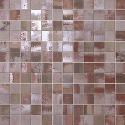 Evoque Acciaio Copper Mosaico Wall | Ceramic mosaics | Fap Ceramiche