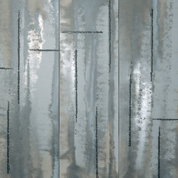 Evoque Acciaio Silver Inserto Mix Wall | Ceramic panels | Fap Ceramiche
