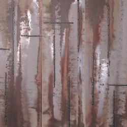 Evoque Acciaio Copper Inserto Mix Wall | Ceramic panels | Fap Ceramiche