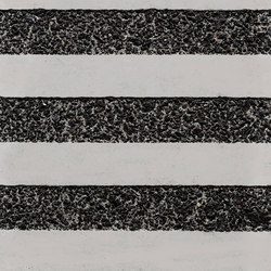 GCGeo Stripes Horizontal white cement - black aggregate | Exposed concrete | Graphic Concrete