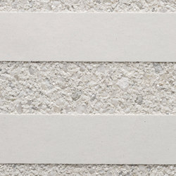 GCGeo Stripes Horizontal white cement - white aggregate | Exposed concrete | Graphic Concrete